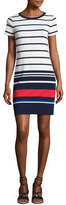 MICHAEL Michael Kors Striped T-Shirt Dress, Navy