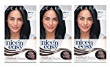 Clairol Nice 'n Easy Hair Color 124, 2BB Natural Blue Black 1 Kit (Pack of 3)
