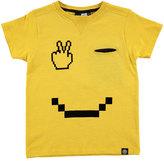 Molo Renton Smiley Jersey Tee, Yellow, Size 4-12