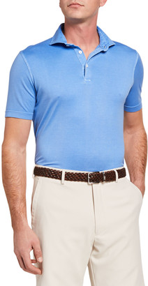 Fedeli Men's Zero Solid Jersey Polo Shirt