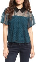 Tularosa Langley Lace Collar Top