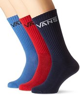 Vans Vans_Apparel Men's Classic Crew Socks, Multiclolored, 5.5-8 UK (38.5-42 EU), Pack of 3