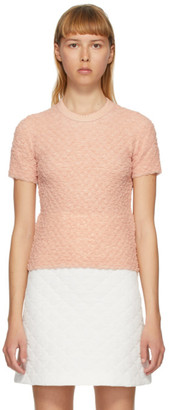 Fendi Pink Crinkled Viscose T-Shirt