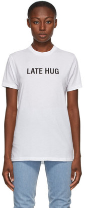 Helmut Lang SSENSE Exclusive White Late Hug T-Shirt