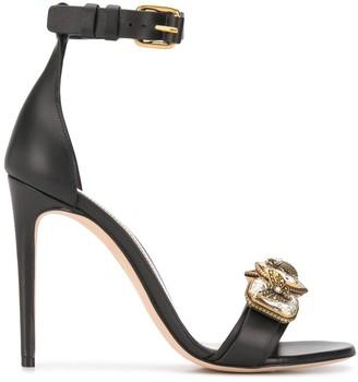 Alexander McQueen Bejewelled Strap 115mm Sandals