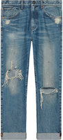 Gucci - Jeans with embroidered ribbon