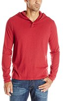 Lucky Brand Men's Two-Button Henley with Hood