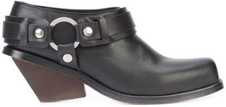 Wanda Nylon Ring Embellished Chunky Heel Boots