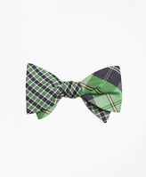 Brooks Brothers Gingham with Plaid Reversible Bow Tie