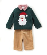 Starting Out Baby Boys 3-24 Months Christmas Santa Sweater, Button-Down Shirt, & Pants 3-Piece Set