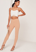 Missguided Skinny Fit Cigarette Trouser Nude