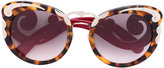 Prada tortoiseshell oversized sunglasses - women - Acetate/metal - 54