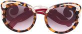 Prada tortoiseshell oversized sunglasses