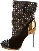 Christian Louboutin Spike Wars Ankle Boots