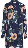 Joie Printed Silk-crepe Shirt Dress