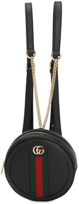 Gucci Ophidia Round Leather Backpack