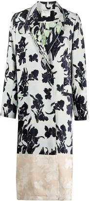 Forte Forte Floral Jacquard Single Breasted Coat