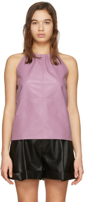 Áeron Purple Faux-Leather Alicia Tank Top