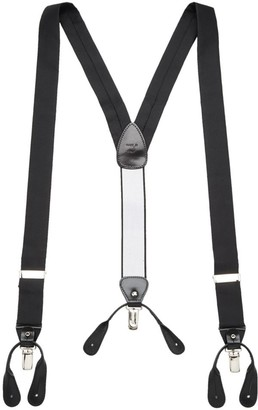 Saks Fifth Avenue COLLECTION Silk & Leather Suspenders