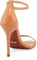 Schutz Cadey-Lee Leather Ankle-Strap Sandal, Light Wood (Stylist Pick!)