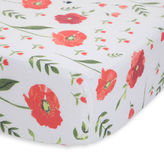 Little unicorn Summer poppy muslin cotton crib sheet