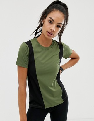 Asos 4505 4505 t-shirt with panel detail