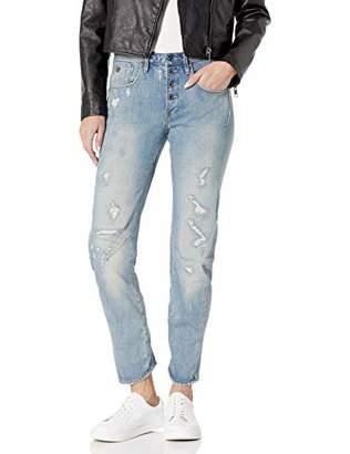 G Star Women's New Arc 3d Btn Low Boyfriend Wmn Jeans, Blau (Lt Aged Restored 7257), 27