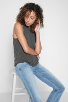 7 For All Mankind Cutout Tank In Lead