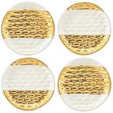 Michael Wainwright Truro Gold Canapé Plates, Set of 4