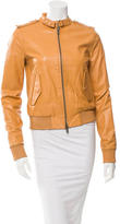 Rachel Zoe Leather Bomber Jacket
