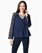 Charming charlie Darling Lace Blouse