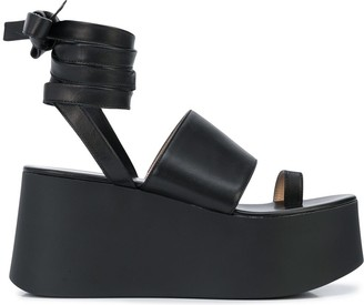 Gianvito Rossi Platform Ankle Strap Sandals