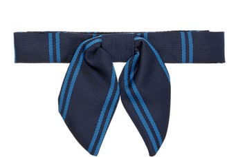 Unbranded Chigwell School Windsors House Bow Tie, Navy/Royal Blue