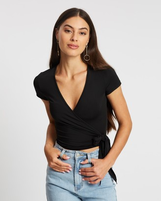 Atmos & Here Evelyn Wrap V-Neck Tee