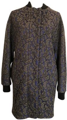 MSGM Black Wool Coat for Women
