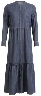 Coster Copenhagen - Dress In Soft Denim With Long Sleeves And Round Neck Medium Indigo - 34