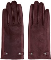 Reiss Jessica - Dents Leather Gloves in Red, Womens