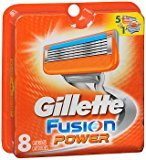 Gillette Fusion Power Cartridges - 8 ct, Pack of 2