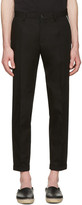 Dolce & Gabbana Black Contrast Piping Trousers