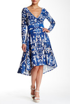 Plenty by Tracy Reese Long Sleeve Hi-Lo Printed Dress