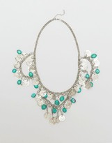 Raga Turquoise Stones Coin Necklace