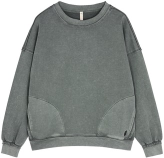 FREE PEOPLE MOVEMENT Solid Metti grey cotton-blend sweatshirt