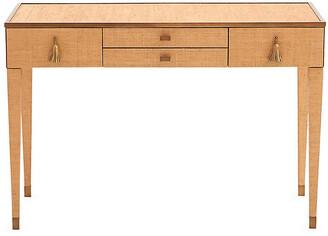Global Views Ann Gish D'Oro Desk - Bronze frame, bronze; hardware, gold