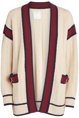 Sandro Paris Cable-Knit Wool Cardigan