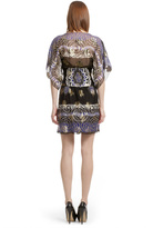 Anna Sui Black Metallic Rose Sheath