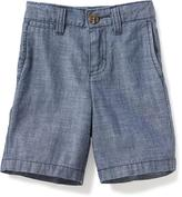 Old Navy Flat-Front Chambray Shorts for Toddler Boys