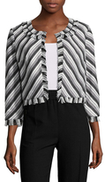 Karl Lagerfeld Cropped Striped Jacket