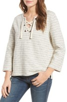 Madewell Women's Stripe Lace-Up Top