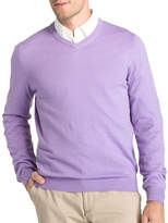 Izod Fieldhouse V Neck Long Sleeve Pullover Sweater
