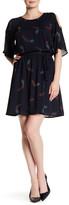 Daniel Rainn Printed Cold Shoulder Dress